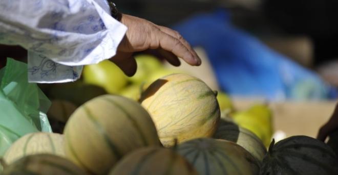 Marché melons - Hérault, le Languedoc © Régis Domergue